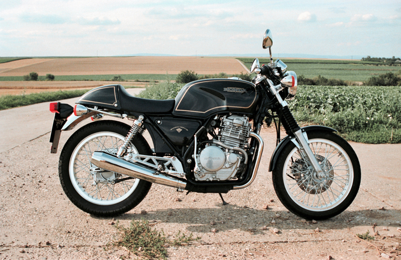 Photograph of a Honda GB500 Tourist Trophy motorcycle